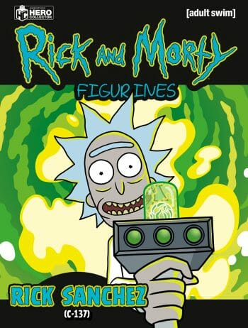 Rick and Morty figurines magazine cover