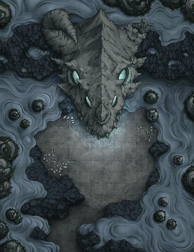 Dragon skull lair entrance