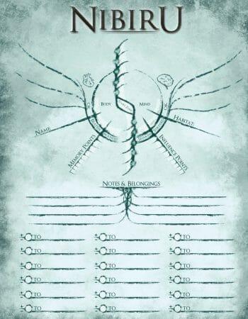 Nibiru character sheet