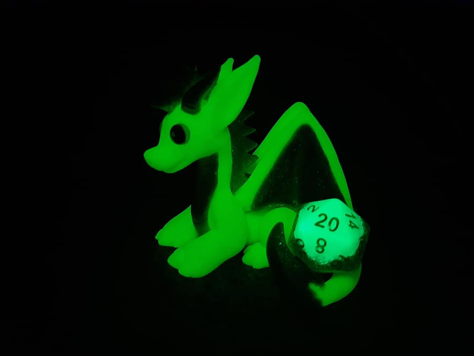 Glowing dice dragon