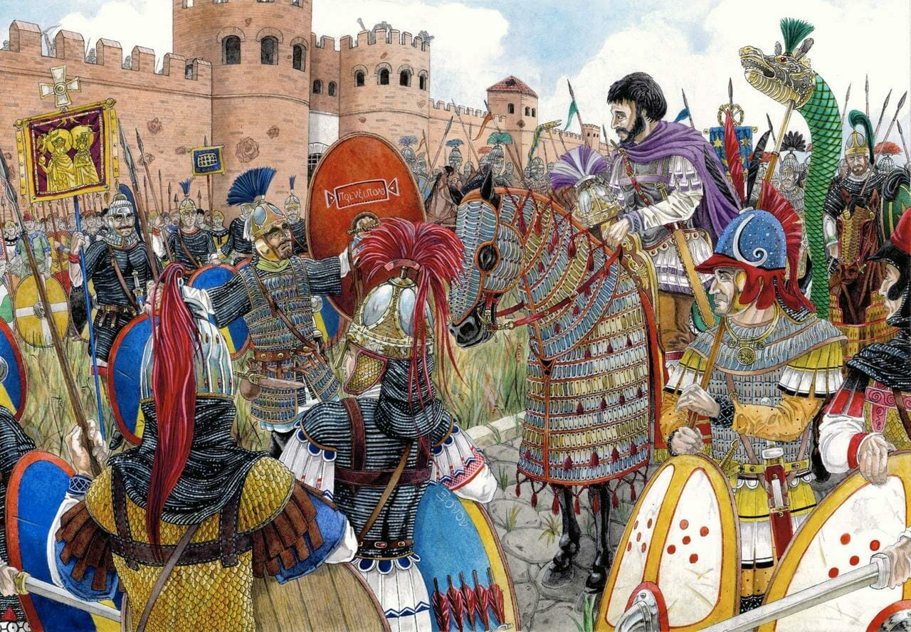 Belisarius under the walls of Rome by Pavel Simak