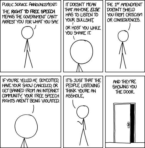XKCD on free speech