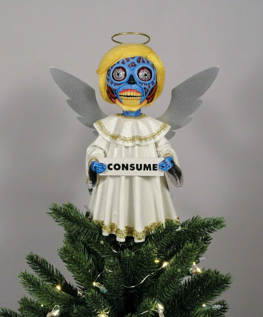 They Live Christmas tree topper