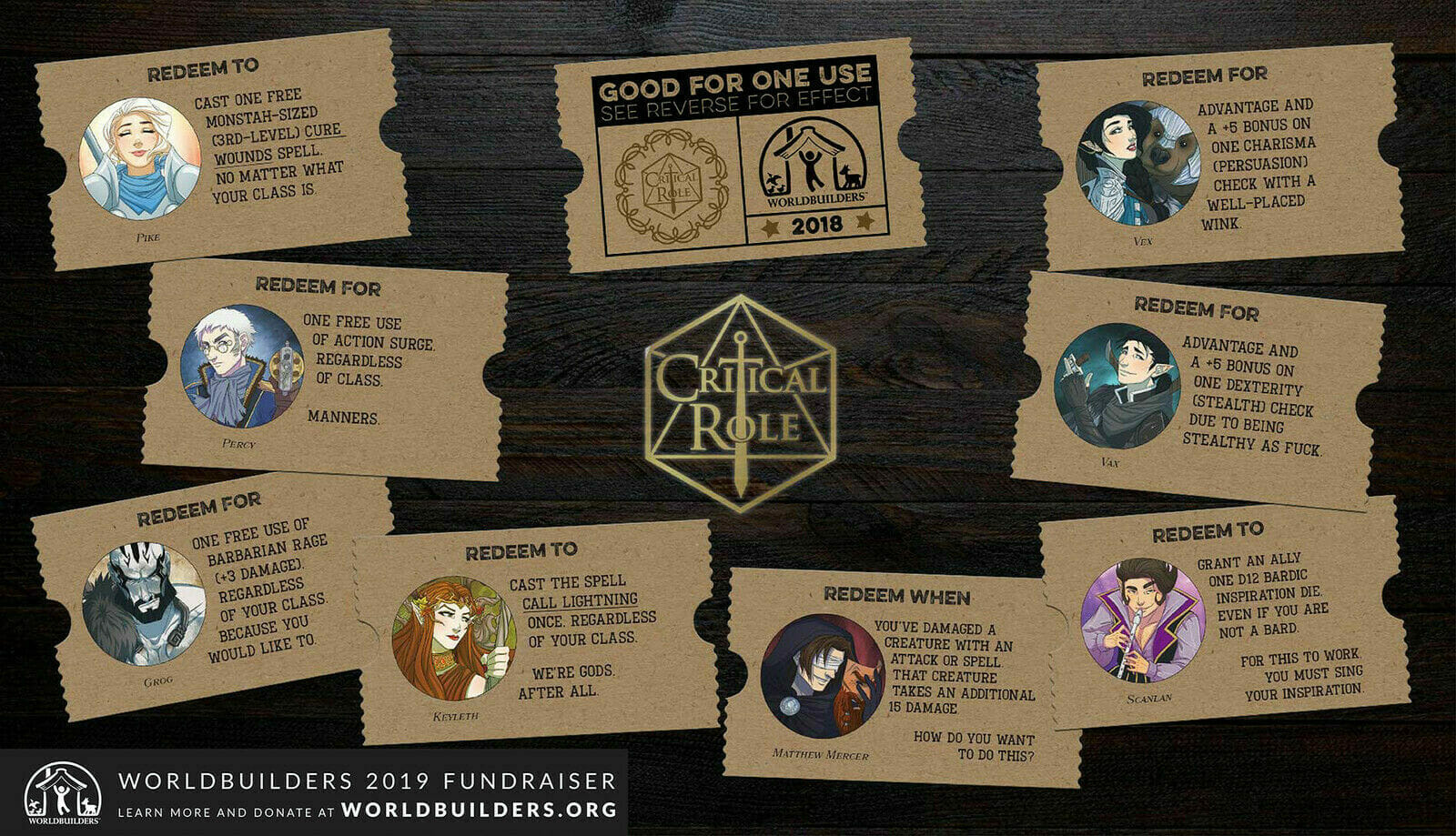 D&D Cards donated by Critical Role