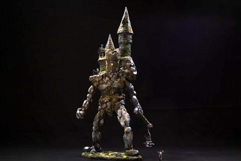 Towering golem warrior