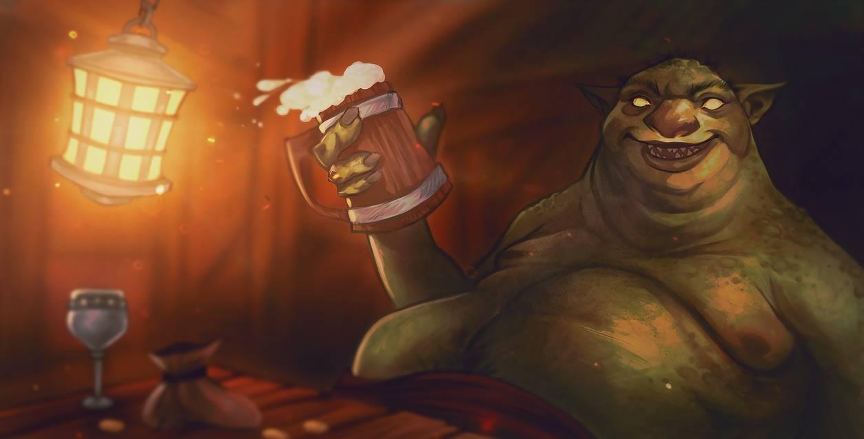 Fat Ogre by Line Schmidt