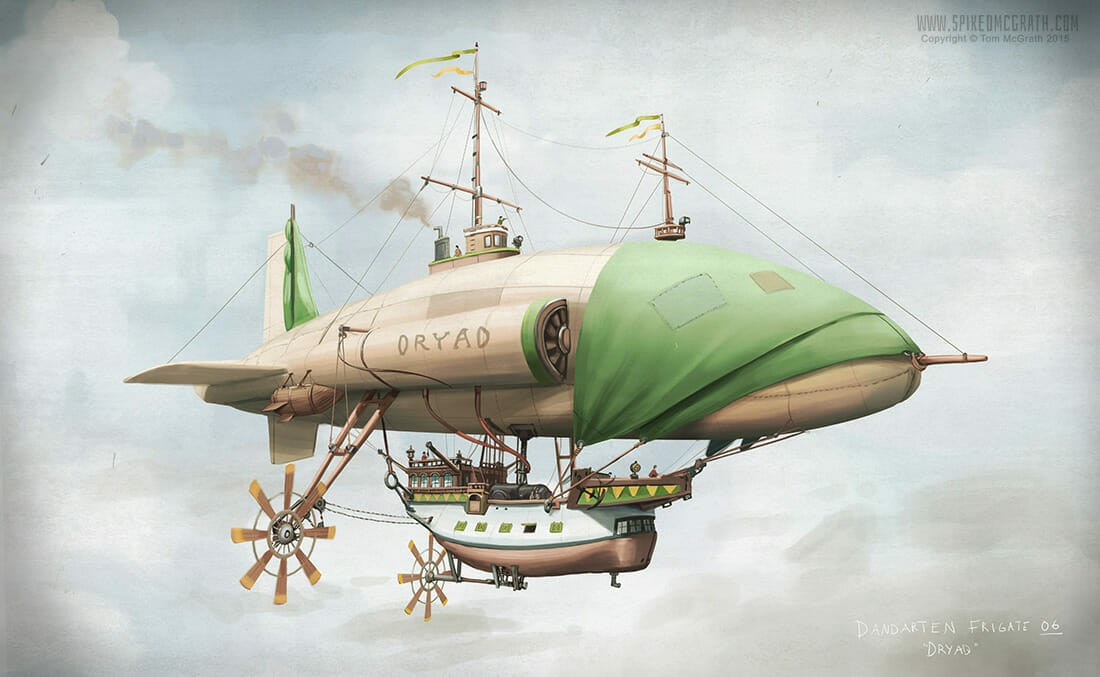The Pirate Airship Dryad