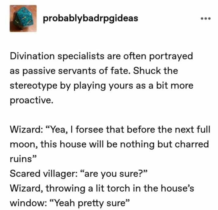 #8 - Divination specialists