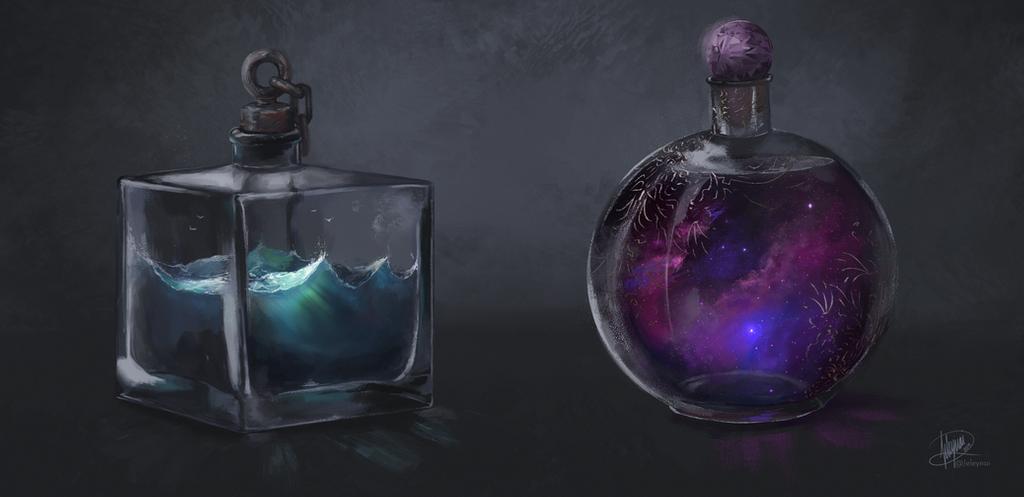 Potion Bottles by Jeleynai