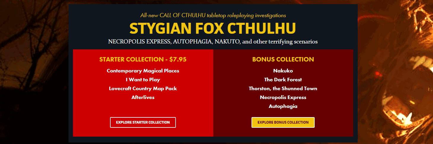 Stygian Fox Cthulhu bundle
