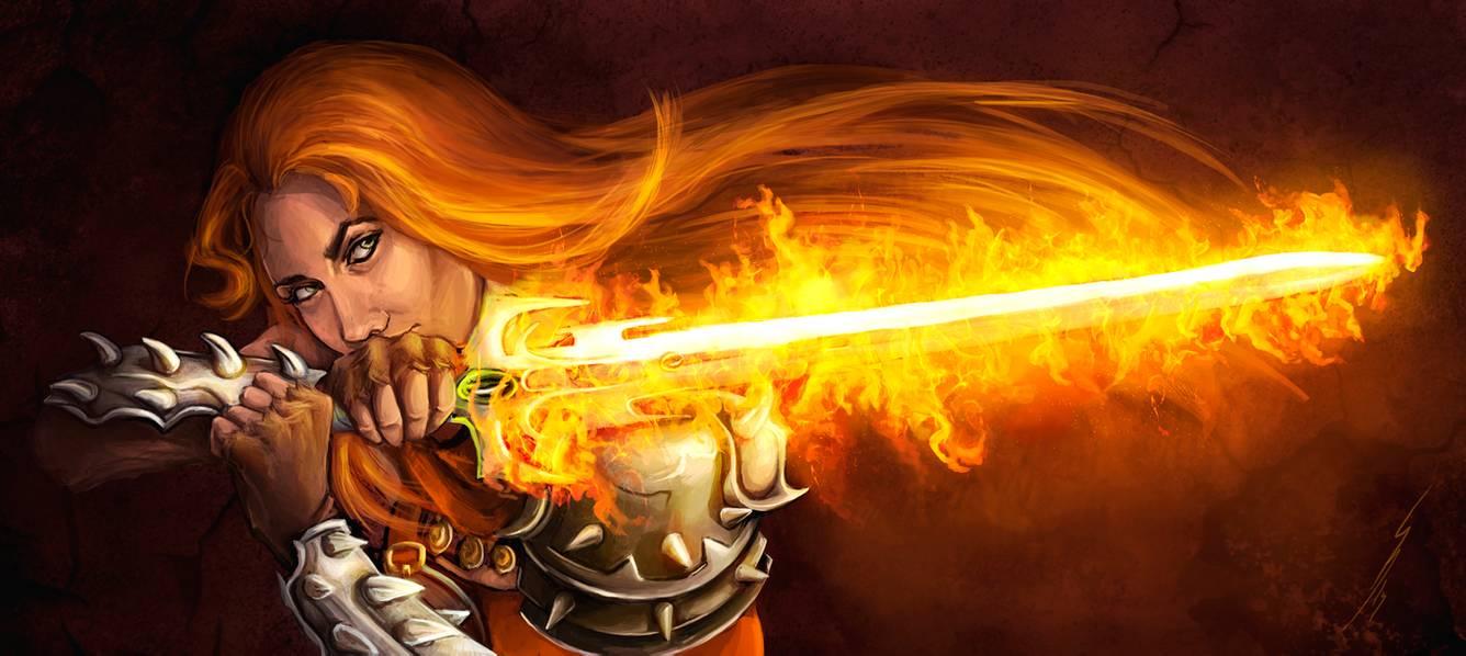 Flaming Sword by Beatriz Galiano