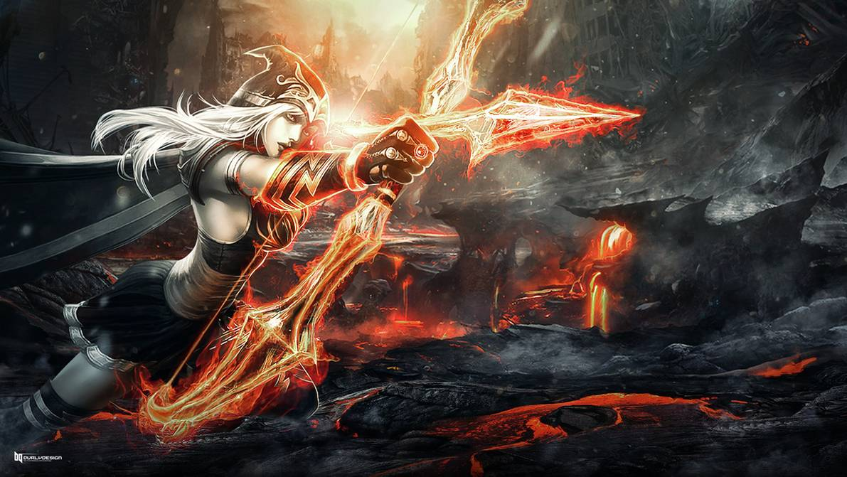 Flame of Ashe Fan Art by durly