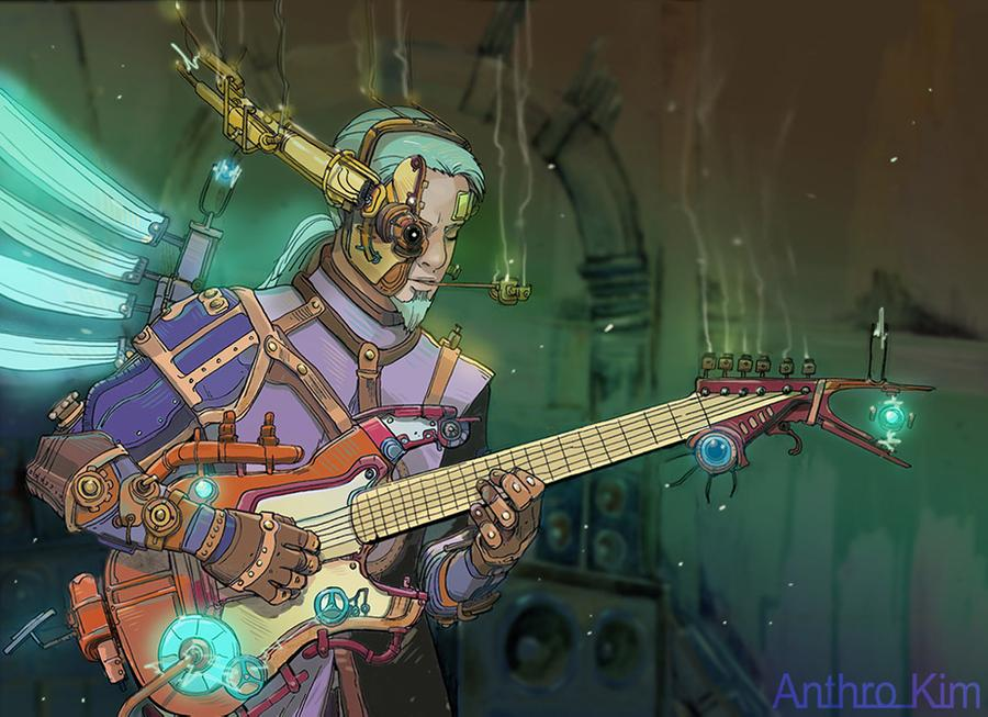 Steampunk Guitarist (Monsterologue project) by Anthro Kim