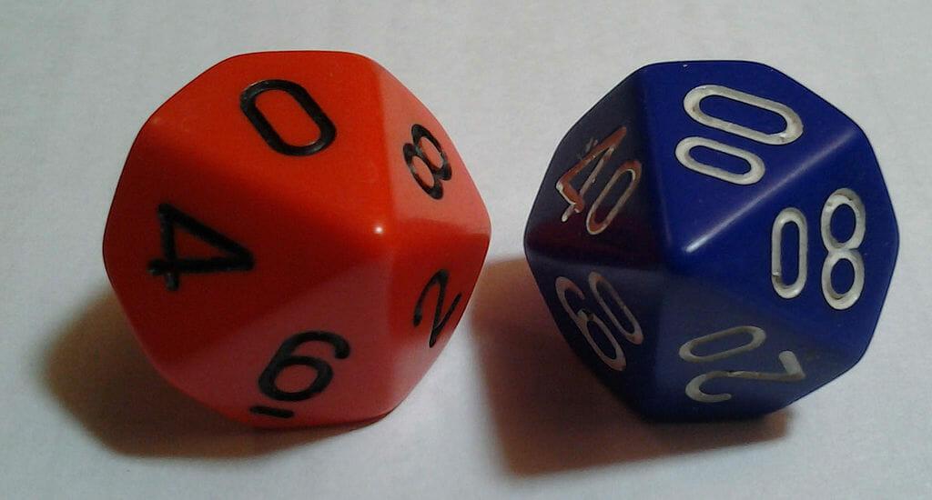 100 on percentile dice