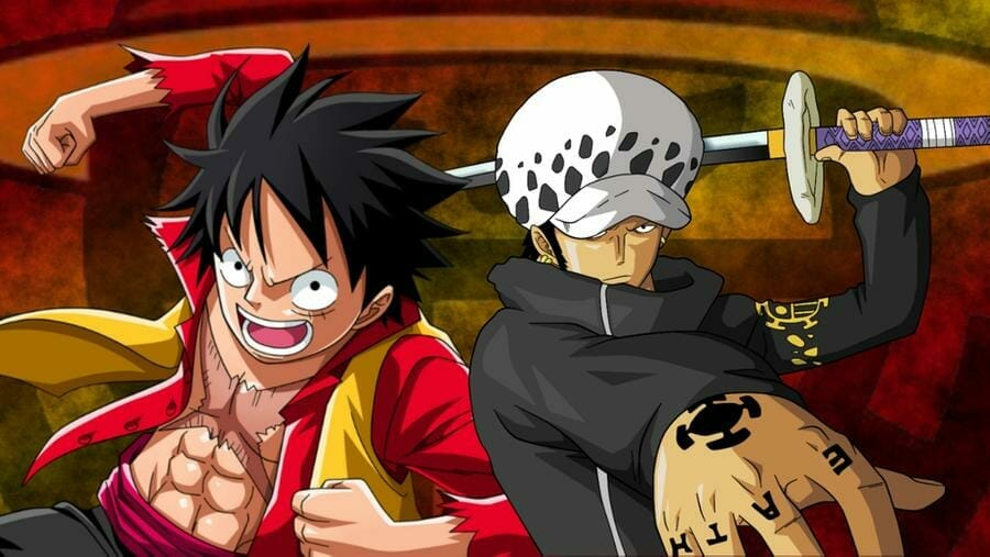 Luffy and Law by Zac