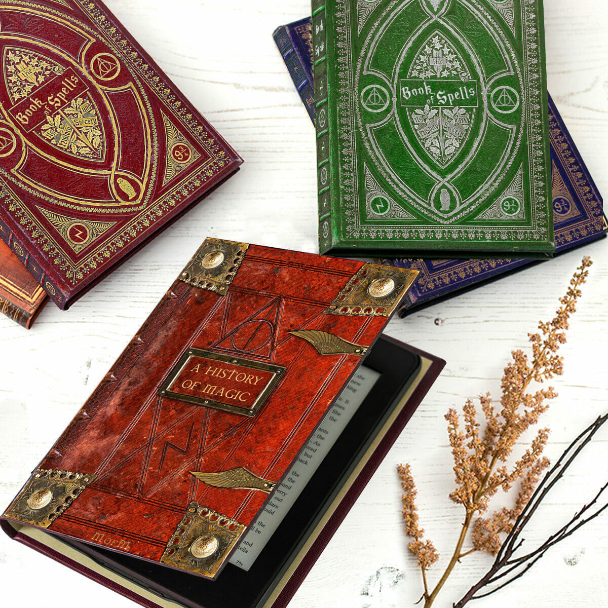 Spellbook cover for tablets