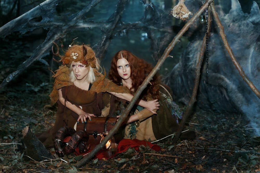 Forest witch and druid