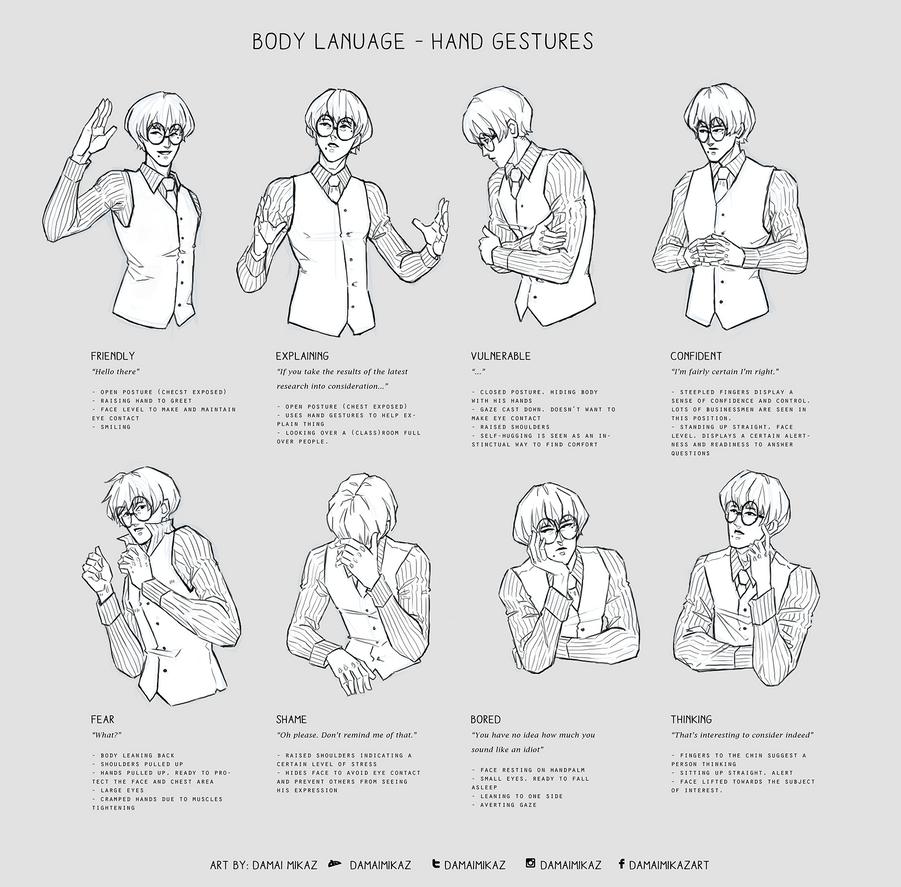 Body Language - Hand gestures by Damai Mikaz