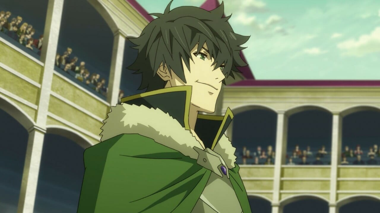 Naofumi in The Rising of the Shield Hero