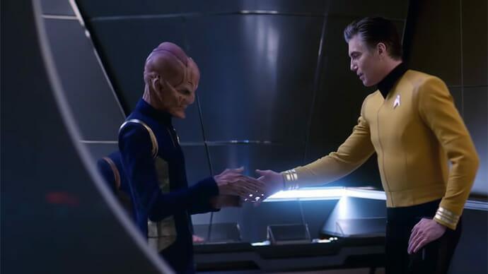 Captain Pike and Saru