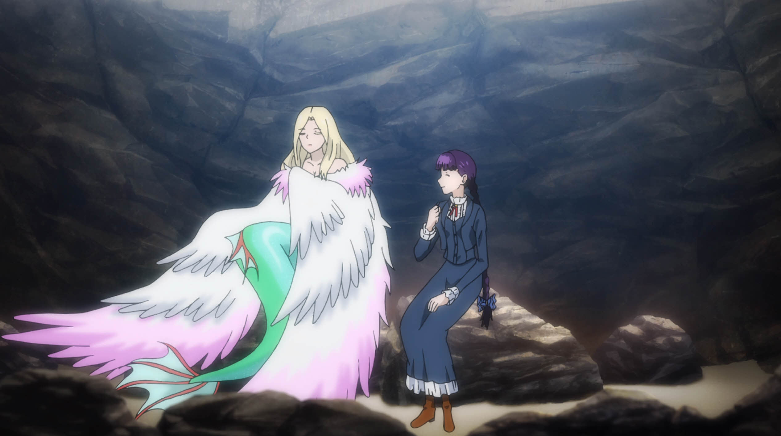 Flying mermaid and friend