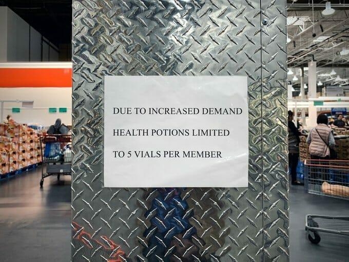 Health Potions prank