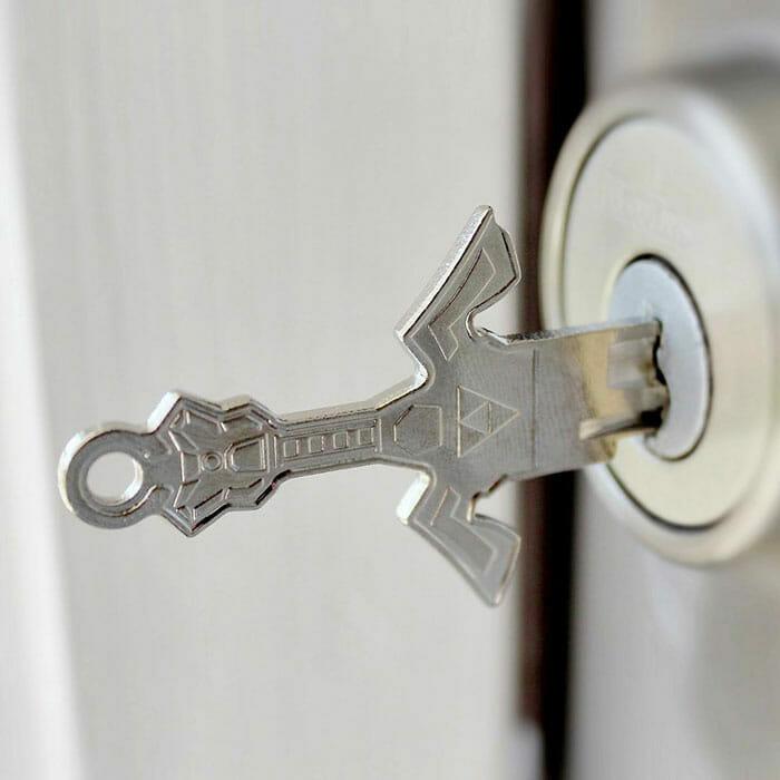 Sword key in a lock