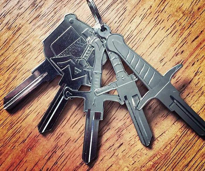 Bunch of sword keys