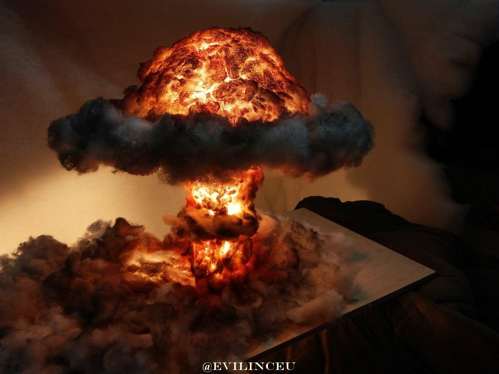 Bomb blast light diorama