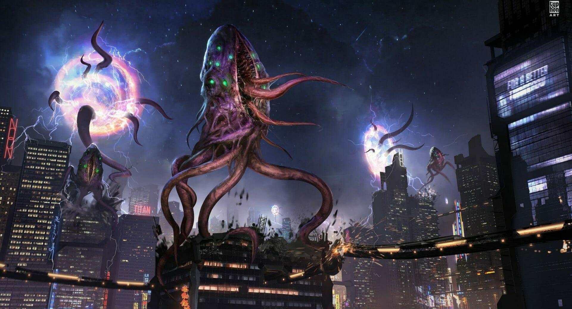 Tentacle Monster by Eryk Szczygiel.