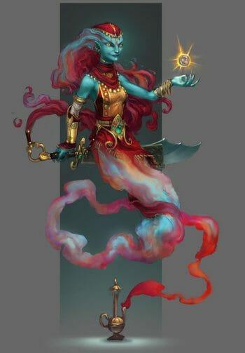 Runescape Genie by TinySecretDoor