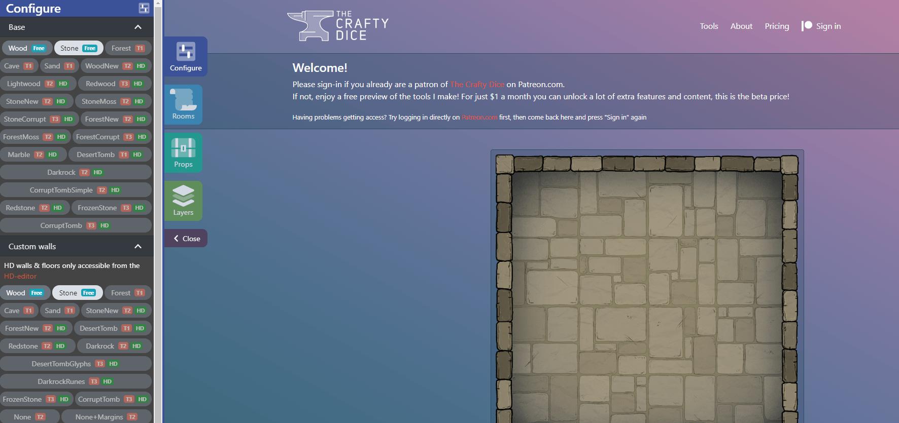 The Crafty Dice site