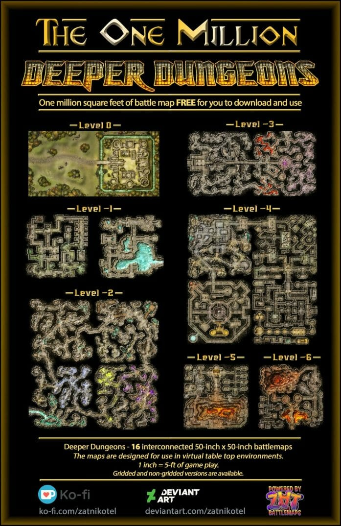 The One Million Deeper Dungeons title set