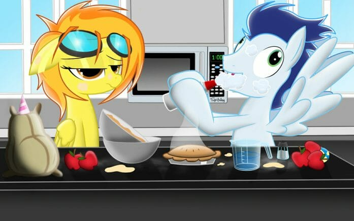 Spitfire and Soarin... cooking a pie by Spitshy