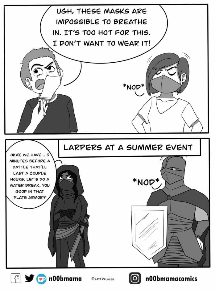 Larpers at a summer event.