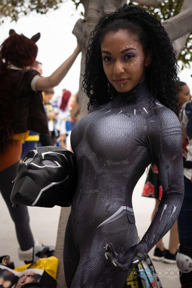 Alexis Victorius as Black Panther.