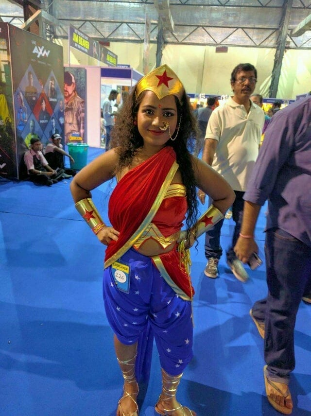 Lady Shimomo as Wonder Woman.