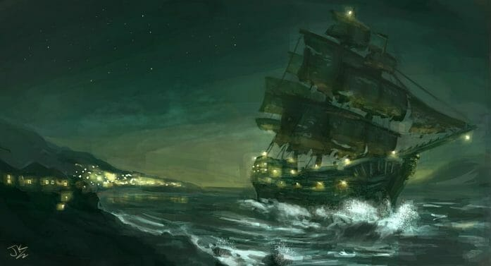 Pirate Ship - The Night Cutter by BadLuckArt
