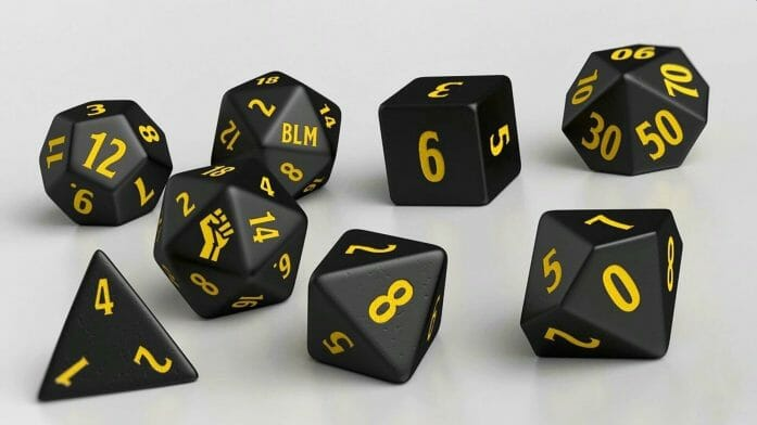 Black Lives Matter dice set