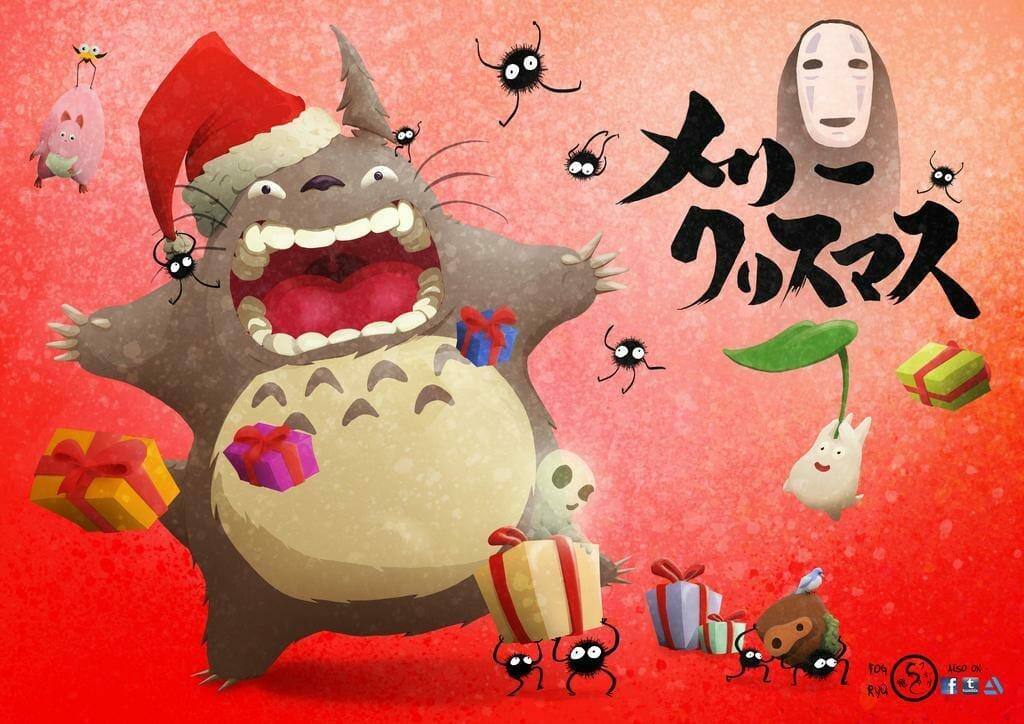 Ghibli Merry Christmas by The Fog Ryu
