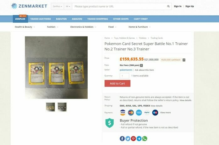 £160,000 for a Pokemon card