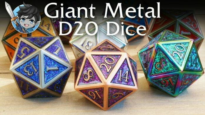 Dark Elf giant metal dice