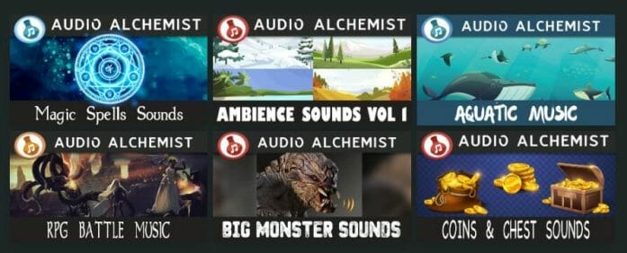 Astral Tabletop sound thumbnails