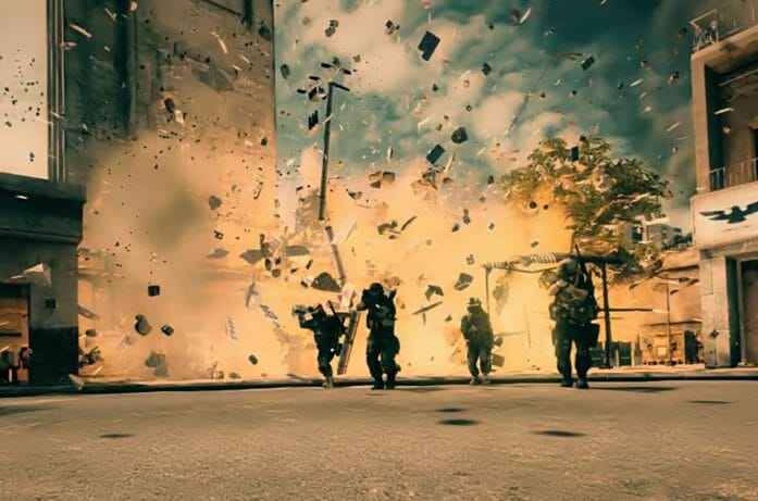 Cool guys walking away from explosions by nospy