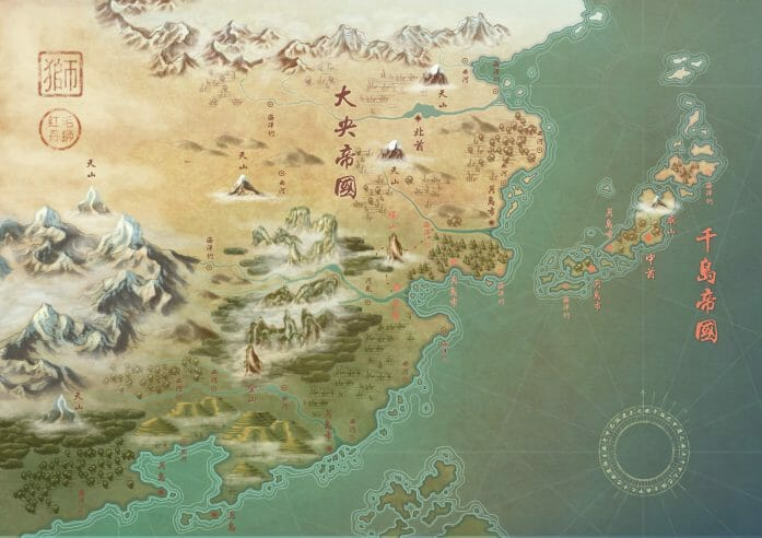 D&D campaign map inspired by Chinese mythology