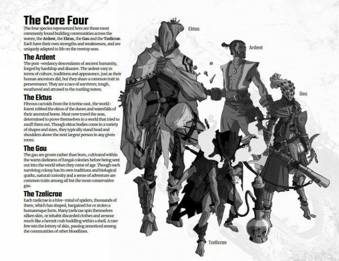 The core four races of The Wildsea