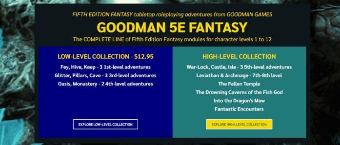Goodman Games on the Bundle of Holding