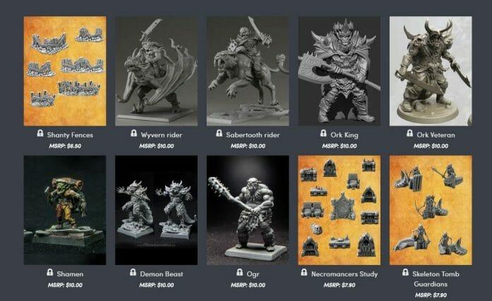Fantasy 3D printable models