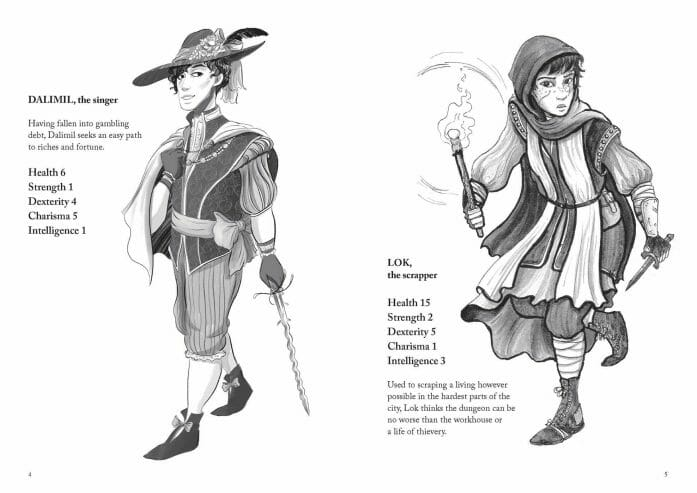 Into the Dungeon characters