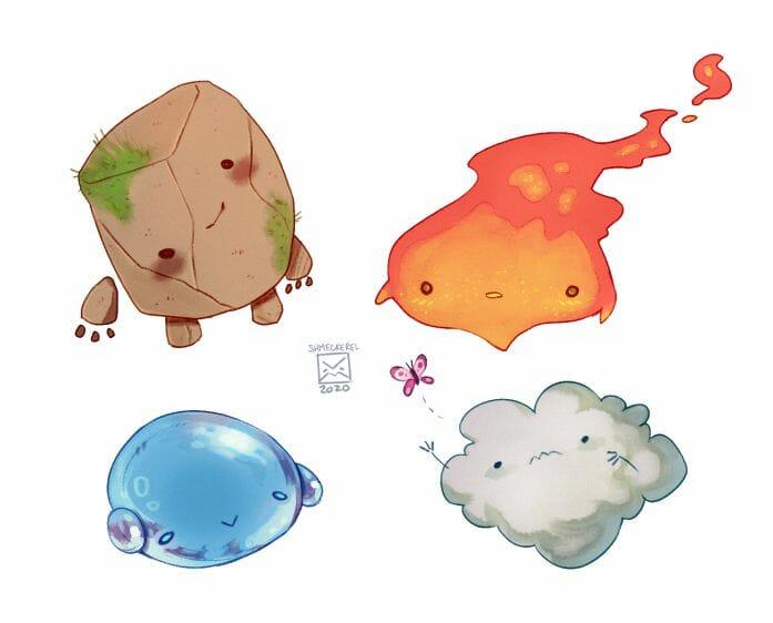 Baby elementals - minimentals